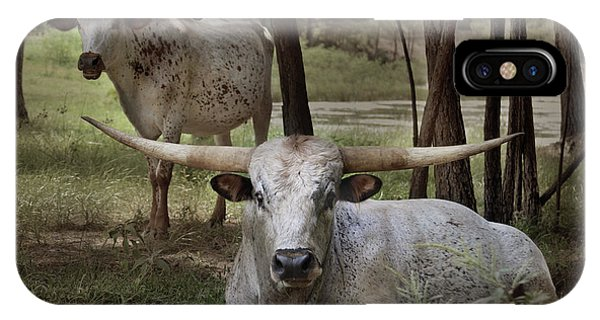 Longhorns On The Watch IPhone Case