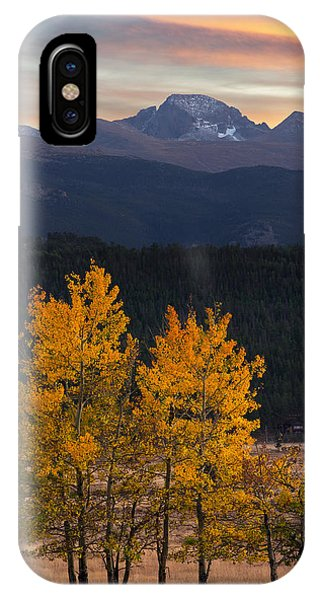 Longs Peak From Moraine Park - Fall IPhone Case