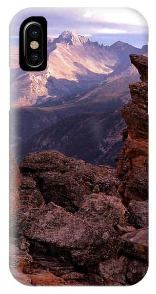 Longs Peak From Rock Cut  IPhone Case
