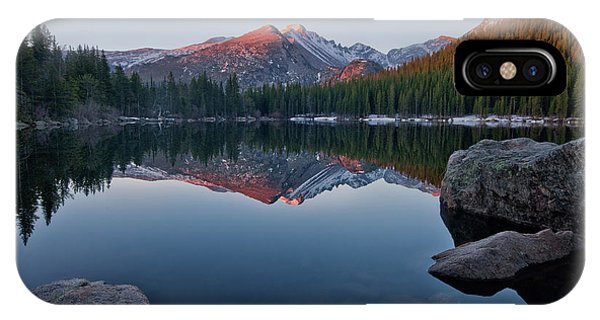 Longs Peak Reflection On Bear Lake IPhone Case