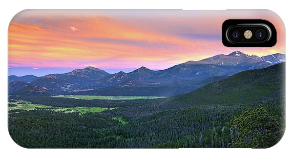 Longs Peak Sunset IPhone Case