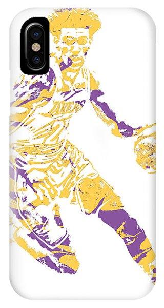 Ball iPhone Case - Lonzo Ball Los Angeles Lakers Pixel Art 1 by Joe Hamilton