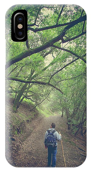 Hiking Path iPhone Case - Look Around You by Laurie Search