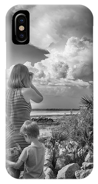 IPhone Case featuring the photograph Look Out by Howard Salmon