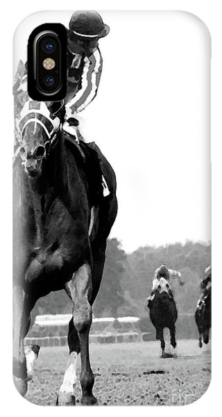 Body iPhone Case - Looking Back, 1973 Secretariat, Stretch Run, Belmont Stakes by Thomas Pollart