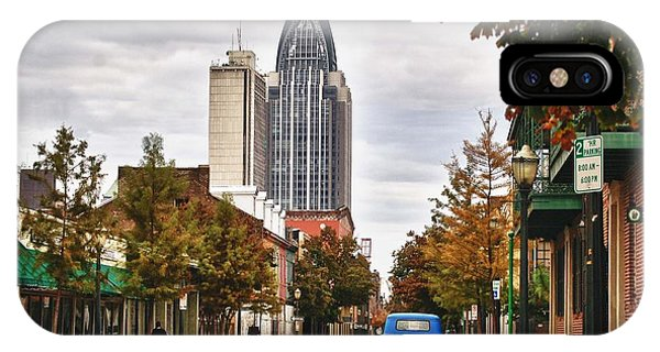 Looking Down Dauphin Street And The Blue Truck IPhone Case
