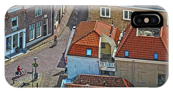 Looking Down From The Church Tower In Brielle IPhone Case