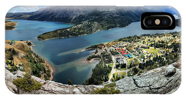 Looking Down On Waterton Lakes IPhone Case
