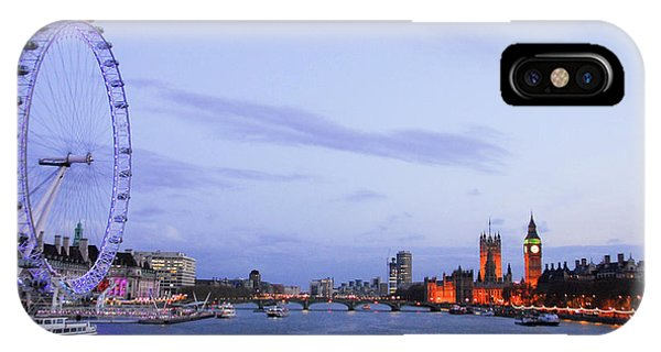 London Eye iPhone Case - Looking Down The Thames by Paul Quinn