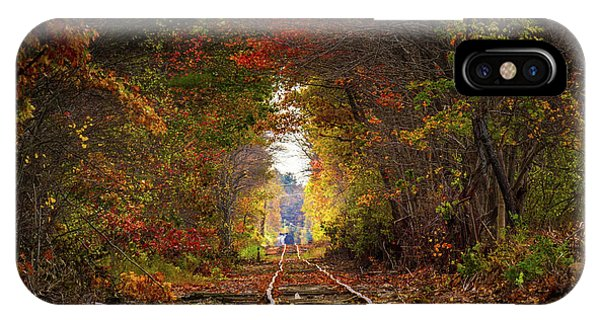 Looking Down The Tracks IPhone Case