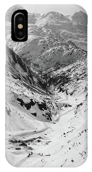Silver And Gold iPhone Case - Looking Down Through Cutoff Canyon From Half Mile Below White Pass Summit, During The Klondike Gold  by American School