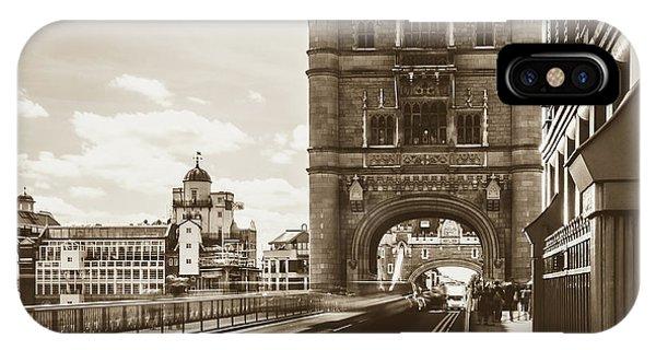 IPhone Case featuring the photograph Looking Down Tower Bridge London by Jacek Wojnarowski