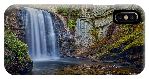 Looking Glass Falls In The Blue Ridge Mountains Brevard North Carolina IPhone Case