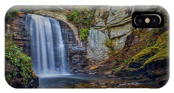 Looking Glass Falls In The Blue Ridge Mountains Brevard North Carolina IPhone Case