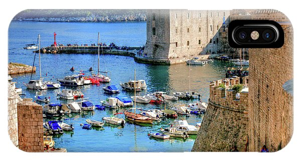 Looking Out Onto Dubrovnik Harbour IPhone Case