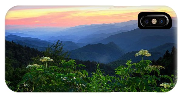 Looking Out Over Woolyback On The Blue Ridge Parkway  IPhone Case