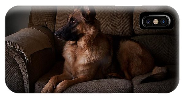 Looking Out The Window - German Shepherd Dog IPhone Case