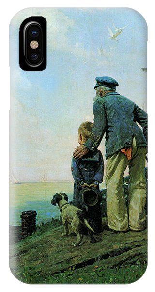 Seagull iPhone Case - Looking Out To Sea by Norman Rockwell