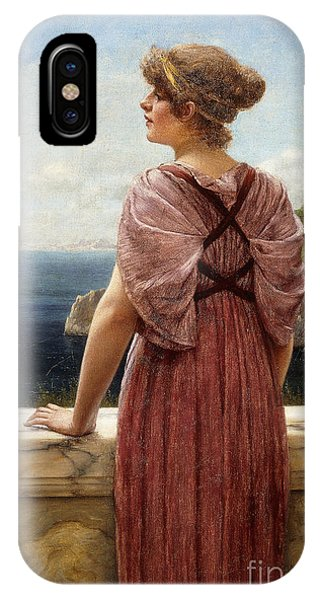 Deep Thought iPhone Case - Looking Seaward by John William Godward