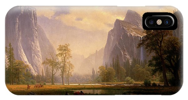 Looking Up The Yosemite Valley  IPhone Case