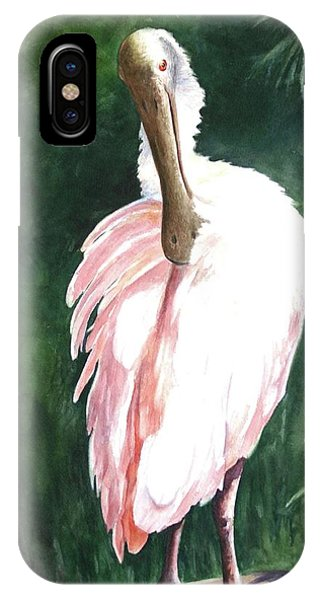 Look'n Back - Spoonbill IPhone Case