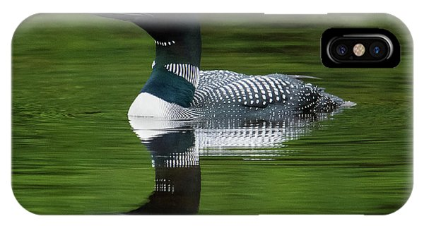 Loon Reflections On The Lake IPhone Case