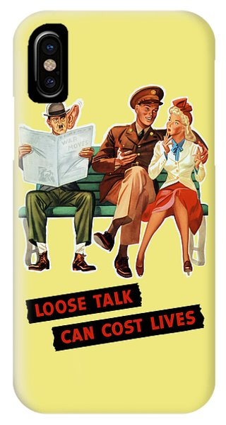 Loose Talk Can Cost Lives - World War Two IPhone Case