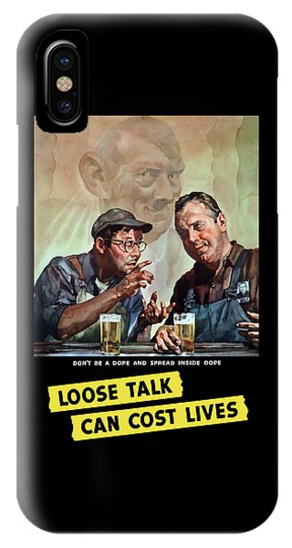 Beer iPhone Case - Loose Talk Can Cost Lives - Ww2 by War Is Hell Store