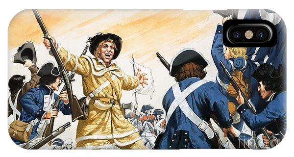 Yorktown iPhone Case - Lord Cornwallis Is Forced To Surrender At Yorktown by Angus McBride