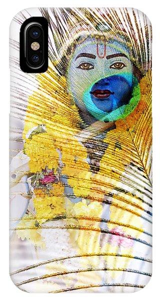 Divine Love iPhone Case - Lord Krishna by Tim Gainey