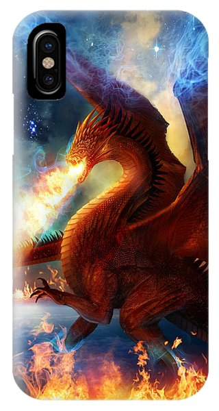 Dragon iPhone X Case - Lord Of The Celestial Dragons by Philip Straub