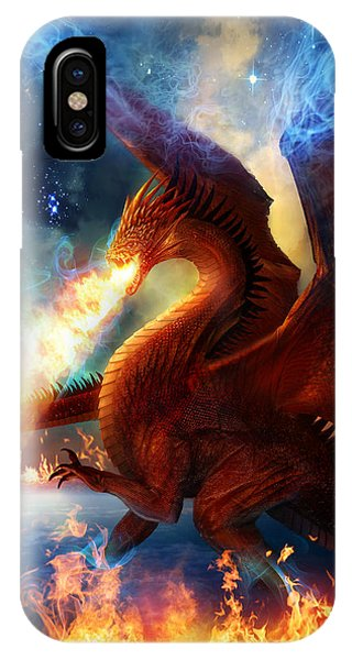 Fantasy iPhone X Case - Lord Of The Celestial Dragons by Philip Straub