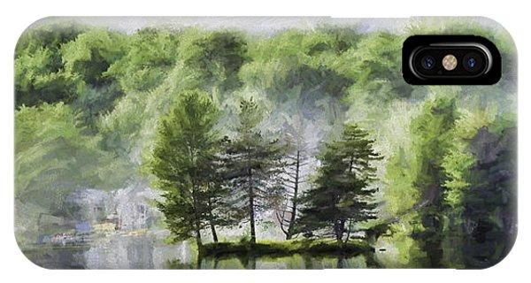 4th July iPhone Case - Lorton Lake by David Francey
