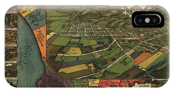 San Gabriel Mission iPhone Case - Los Angeles As It Appeared In 1871 by Dale Powell