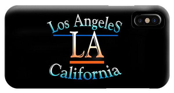 Sports Clothing iPhone Case - Los Angeles California Design by Peter Potter