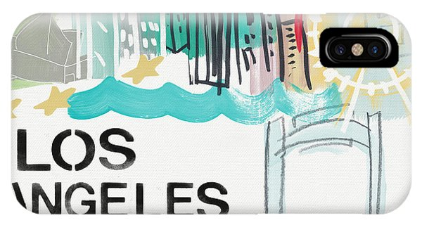 Los Angeles iPhone Case - Los Angeles Cityscape- Art By Linda Woods by Linda Woods