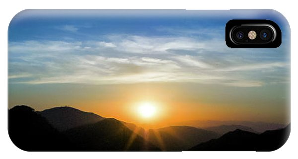 IPhone Case featuring the photograph Los Angeles Desert Mountain Sunset by T Brian Jones