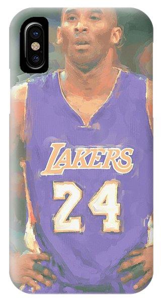Kobe iPhone Case - Los Angeles Lakers Kobe Bryant 2 by Joe Hamilton