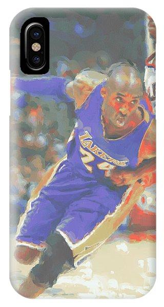 Kobe iPhone Case - Los Angeles Lakers Kobe Bryant by Joe Hamilton