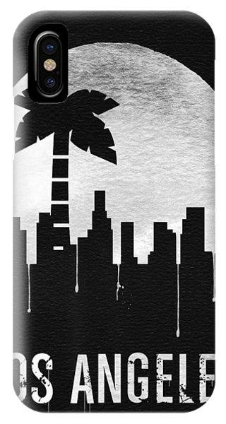 Moon iPhone X Case - Los Angeles Landmark Black by Naxart Studio