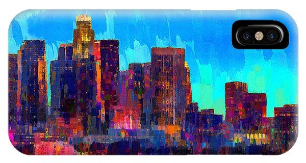 Los Angeles Skyline 108 - Da IPhone Case