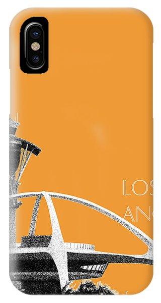 Los Angeles Skyline Lax Spider - Orange IPhone Case