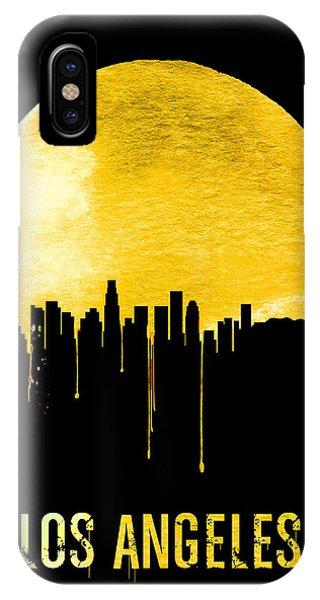 Los Angeles Skyline Yellow IPhone Case
