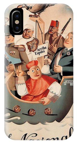 Advertising iPhone Case - Los Nacionales - Ministerio De Propaganda - Vintage Propaganda Poster by Studio Grafiikka
