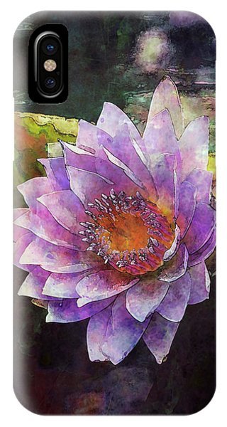 Lost Lavender Lotus Blossom 4725 Ldp_2 IPhone Case
