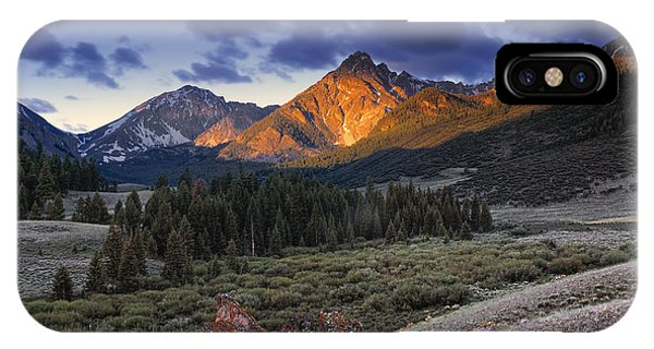 Beautiful iPhone Case - Lost River Mountains Moon by Leland D Howard