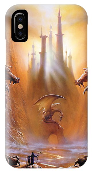 Dragon iPhone X Case - Lost Valley by The Dragon Chronicles - Garry Wa