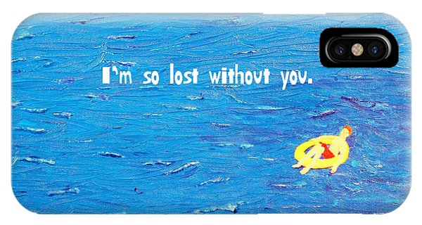 Lost Without You Greeting Card IPhone Case