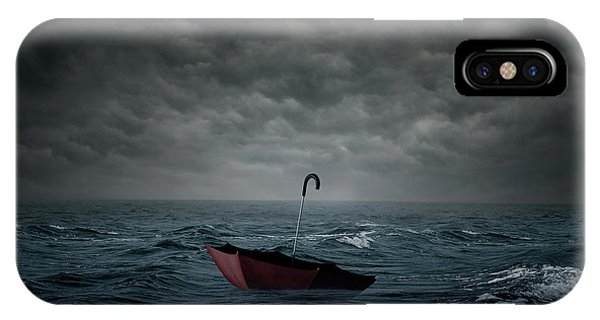 Dark Clouds iPhone Case - Lost by Zoltan Toth