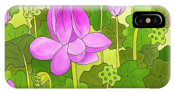Lotus And Waterlilies IPhone Case